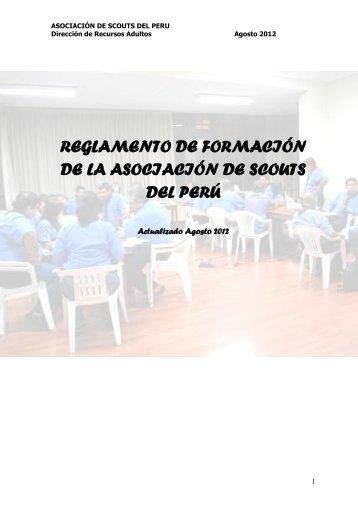 REGLAMENTO DE FORMACION - Scouts del Perú