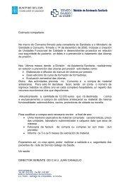 Colchones hospitais - Sergas