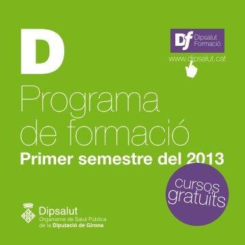 Programa de Formació per al primer semestre del 2013