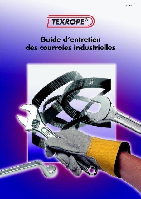 Guide d'entretien des courroies industrielles TEXROPE - Gallon