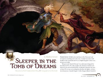Sleeper in the Tomb of Dreams - Wizards of the Coast