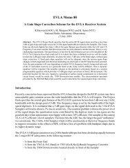 EVLA Memo 80 - National Radio Astronomy Observatory