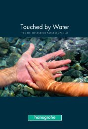Illustrated book on the Water Symposium 2011 ... - Hansgrohe