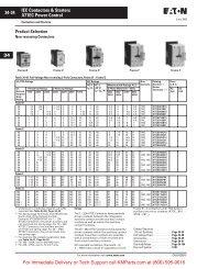 Eaton XTCE Contactors PDF - Klockner Moeller Parts
