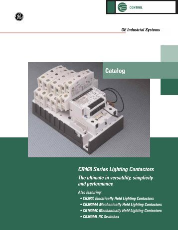 CR460 Series Lighting Contactors - GE Industrial Systems