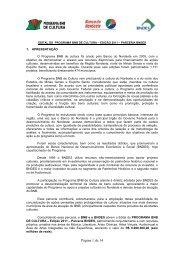 EDITAL PROGRAMA BNB DE CULTURA 2011 - Banco do Nordeste