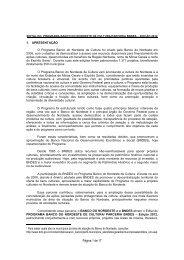 EDITAL PROGRAMA BANCO DO NORDESTE DE CULTURA ...