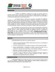 Edital PROGRAMA BNB DE CULTURA 2008 - Banco do Nordeste