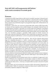 nota asli scuola medie superiori - ASLI - Associazione per la Storia ...