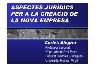Aspectes jurídics per a la creació d'empresa - Universitat Rovira i ...