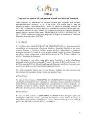 EDITAL Programa de Apoio a Microprojetos Culturais no Estado do ...