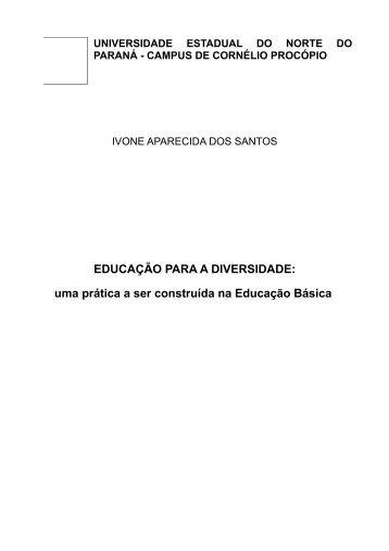 EDUCAÇÃO PARA A DIVERSIDADE - Secretaria de Estado da ...