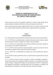 TERMO DE COMPROMISSO DE USO DOS SERVIÇOS DE ... - UTFPR