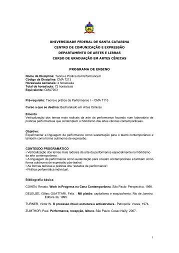 CMA7213 - Teoria e Prática da Performance II.pdf - UFSC