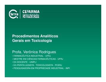 Amostras Biológicas Não-Convencionais - CEFARMA