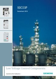 Low Voltage Control Components - Siemens Answers - Siemens India
