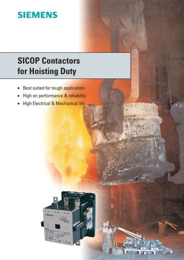SICOP Contactors for Hoisting Duty Brochure