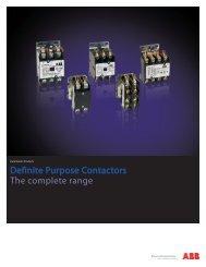 Definite Purpose Contactors The complete range - Jonweb.net