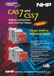 Safety Contactors and Control Relays - NHP