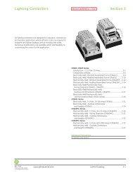 Lighting Contactors - GE Industrial Systems