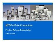 XTCF 4-Pole Contactors - Eaton Canada