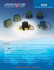 GIGAVAC GX12 EPIC High Power DC Contactor