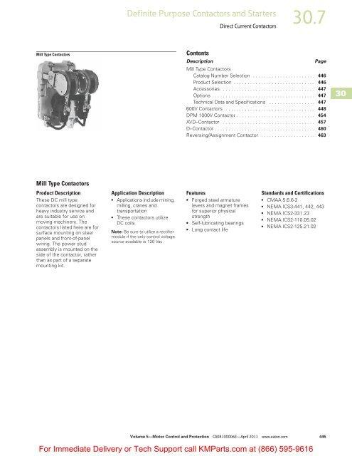 Direct Current Contactors - Klockner Moeller Parts