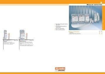 General catalogue 2009-10 - Modular contactors - Technika GKM Kft.