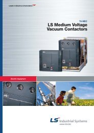 LS Medium Voltage Vacuum Contactors - Sehi