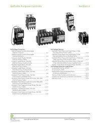 Definite Purpose Controls - GE Industrial Systems