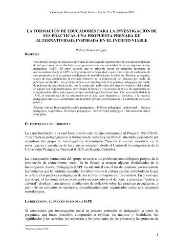 construindo a utopia - Centro Paulo Freire - Estudos e Pesquisas