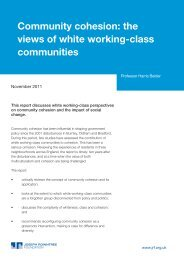 Community cohesion: the views of white working-class communities