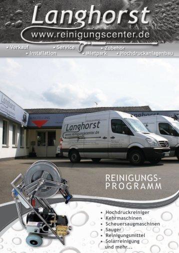 Langhorst Reinigungstechnik - Reinigungsprogramm