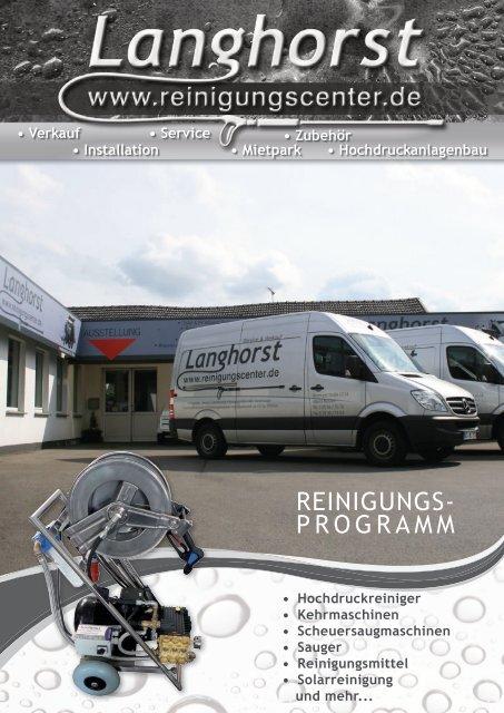 Langhorst Reinigungstechnik Reinigungsprogramm
