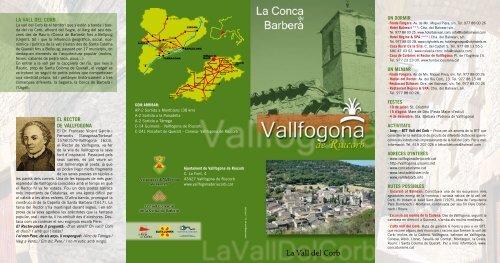 Vallfogona De Riucorb Mapa.Vallfogona De Riucorb Conca De Barbera