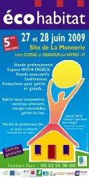 AA programme …COHABITAT - Maisons Paysannes de France en ...