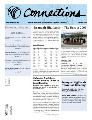 View On-line - the Issaquah Highlands Resident Website
