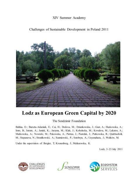 Lodz as European Green Capital by 2020