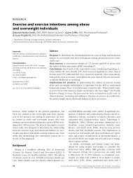 Exercise and exercise intentions among obese and overweight ...