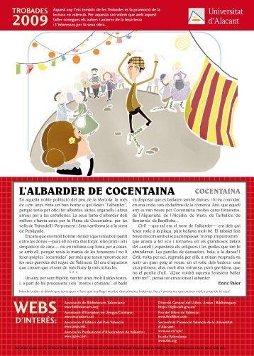 L'ALBARDER DE COCENTAINA - Escola Valenciana