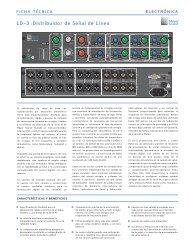 LD-3 :Distribuidor de Señal de Línea - Meyer Sound Laboratories Inc.