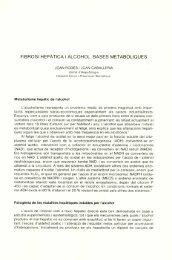 Fibrosi hepàtica i alcohol. Bases metabòliques