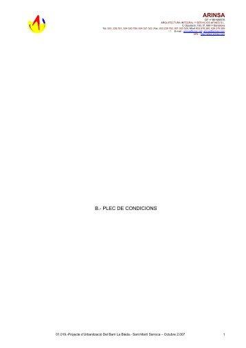 Plec Condicions PU La Bleda - Ajuntament de Sant Martí Sarroca