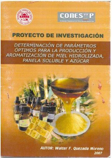 Miel, panela azúcar.pdf - Repositorio UTN