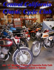 January 2012 - Central California Classic Cycle Club