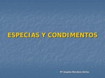 ESPECIAS Y CONDIMENTOS - OCW UPM