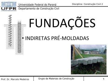indiretas pré-moldadas - DCC - Universidade Federal do Paraná