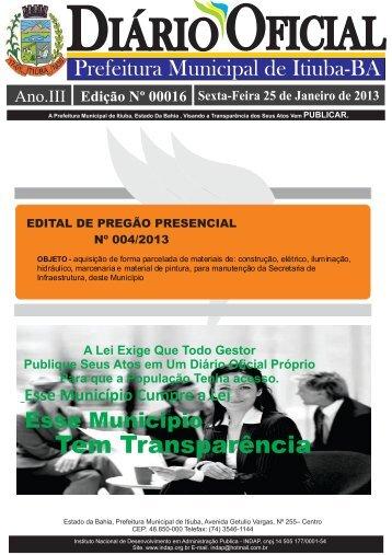 edital de pregão presencial nº 004/2013. - Indap