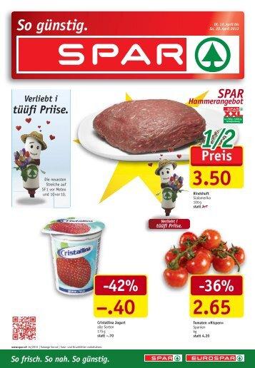 SPAR Schweiz - Flugblatt KW16 2013