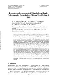 Experimental Assessment of Using Soluble Humic Substances for ...